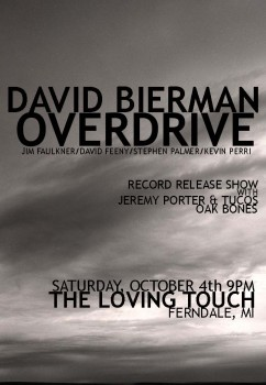 David Bierman Overdrive Record Release Flyer